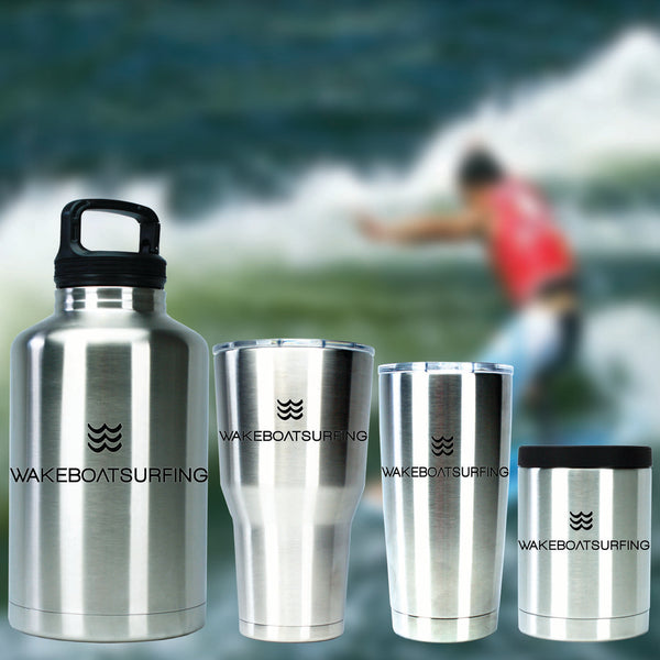 Buy now WakeBoatSurfing Tumblers for hot or cold drinks