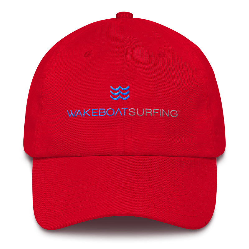 WakeBoatSurfing, 6 panel, low profile, Cotton Cap