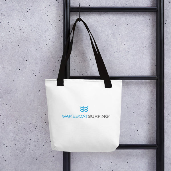 "WakeBoatSurfing Tote Bag, 15""x15"""