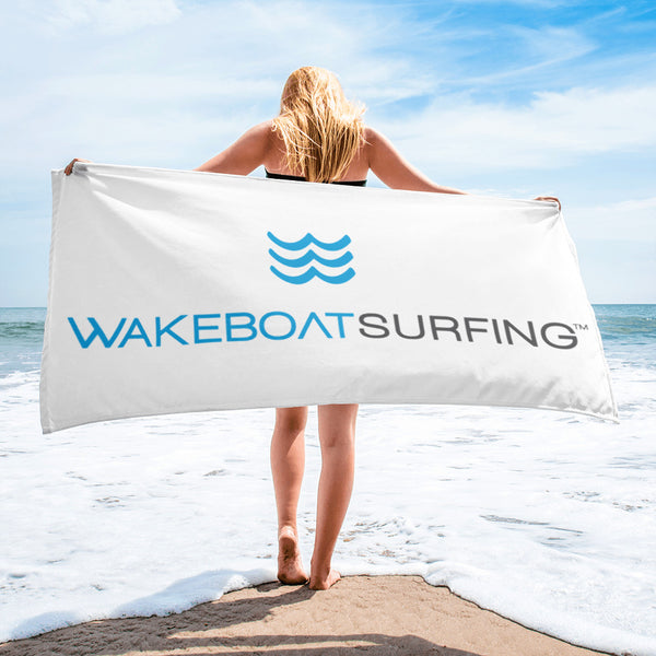 WakeBoatSurfing Beach Towel