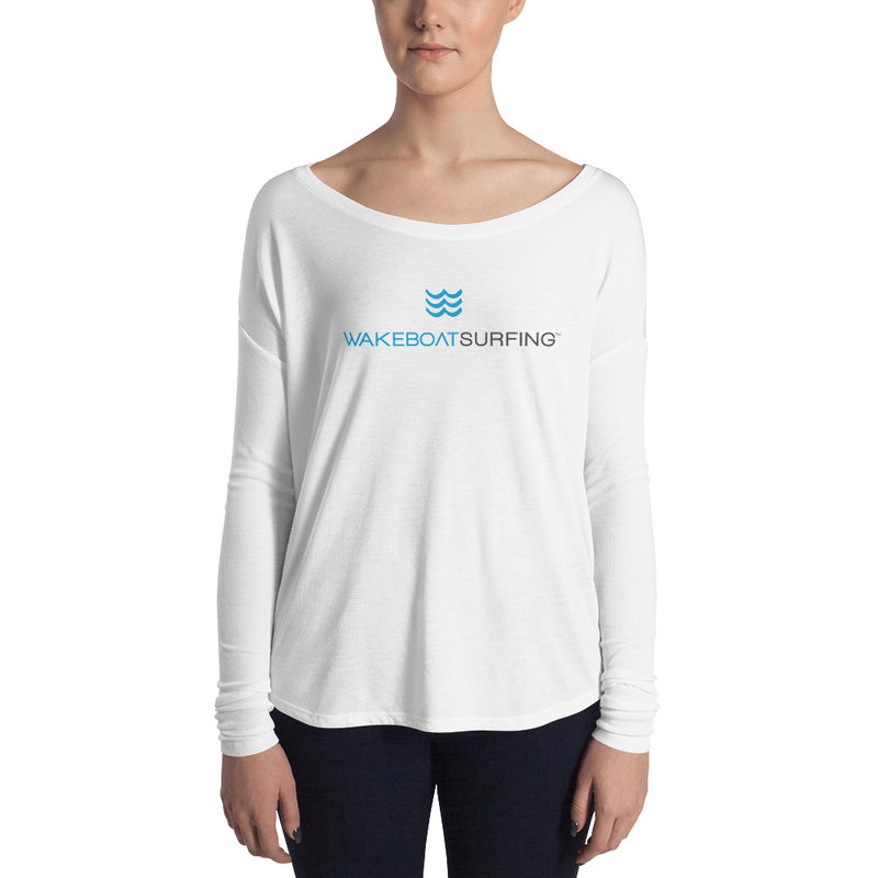 WakeBoatSurfing Ladies' Long Sleeve Tee