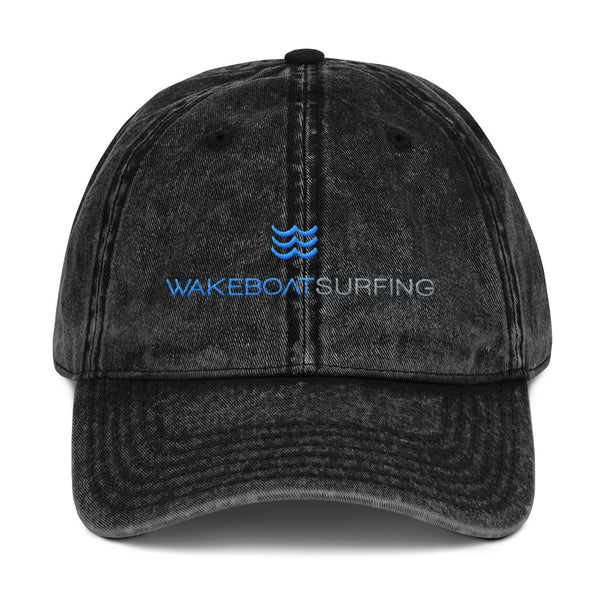 WakeBoatSurfing Vintage Cotton Twill Cap