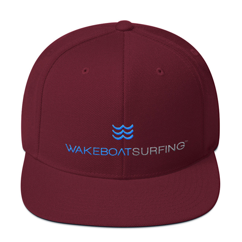 WakeBoatSurfing Snapback Hat