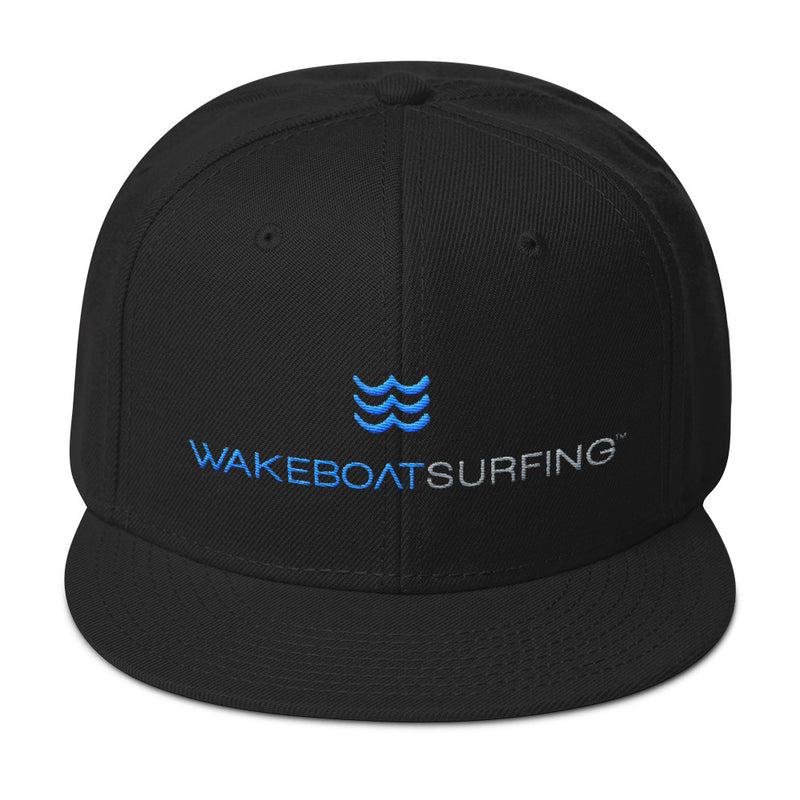 WakeBoatSurfing 6 Panel Snapback Hat