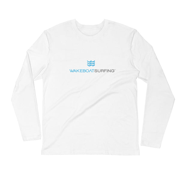 WakeBoatSurfing Long Sleeve Fitted Crew