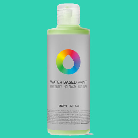 MTN Water Based Paint Turquoise 200ml - AllCity NZ