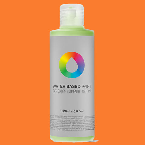 MTN Water Based Paint Azo Orange 200ml - AllCity NZ