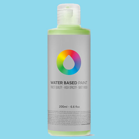 MTN Water Based Paint Phthalo Blue Light 200ml - AllCity NZ