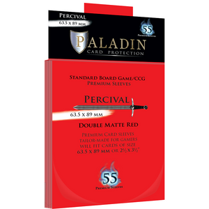 Paladin Card Sleeves - Percival Double Matte Red (63.5x89mm)