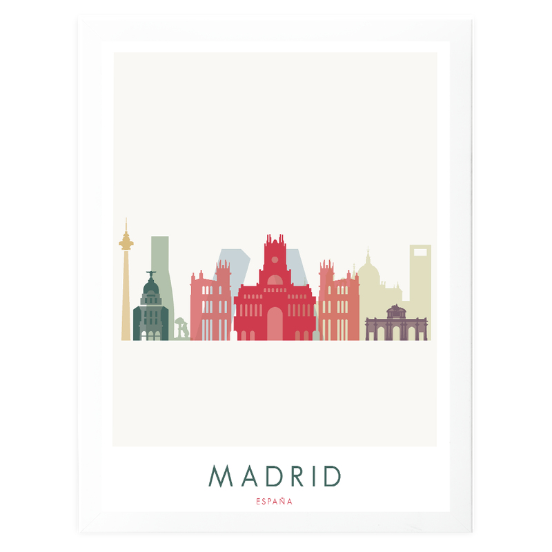 Madrid Art Print