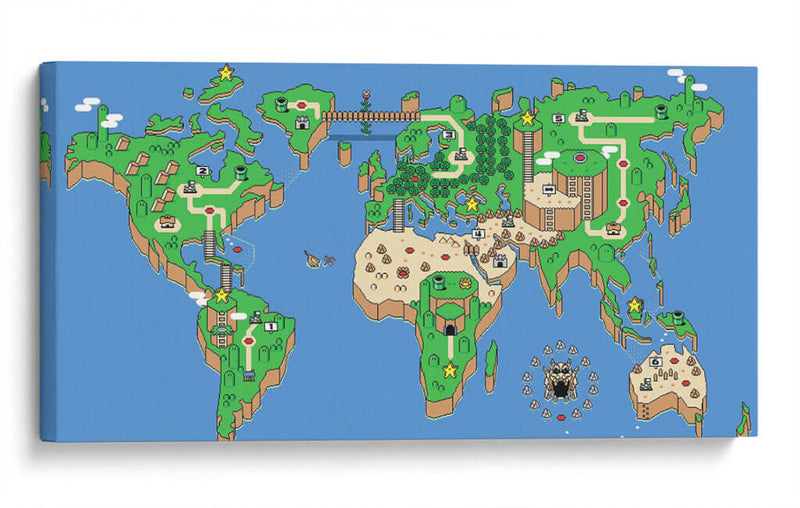 Super Mario World Map (Canvas)