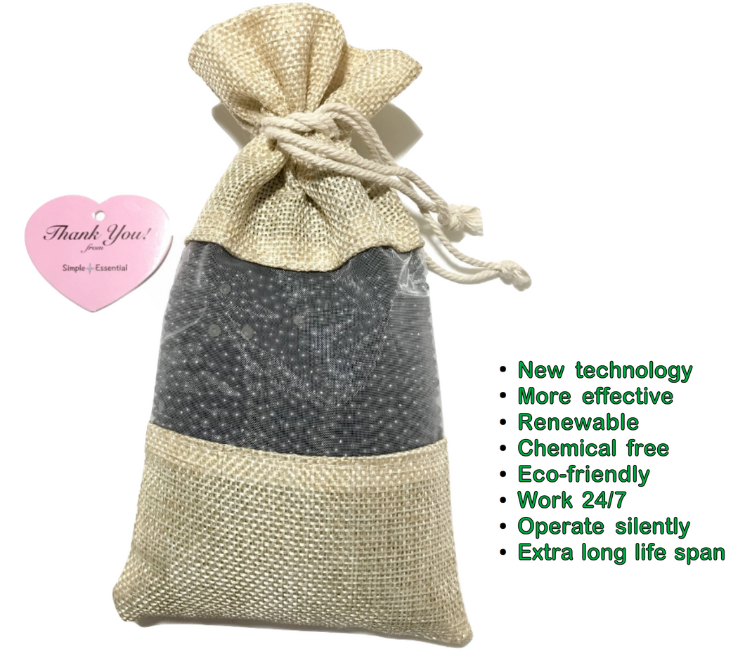 1x250g Unscented Charcoal Air Purifier Freshener Deodorizer Bag for Home