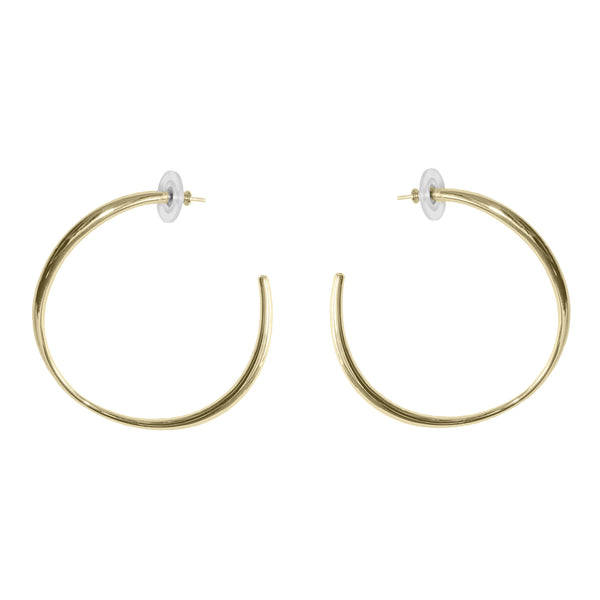 Gaby-Hoop-Earring-18K-Plated-Yellow-Gold-Lisa-Corbo-Design