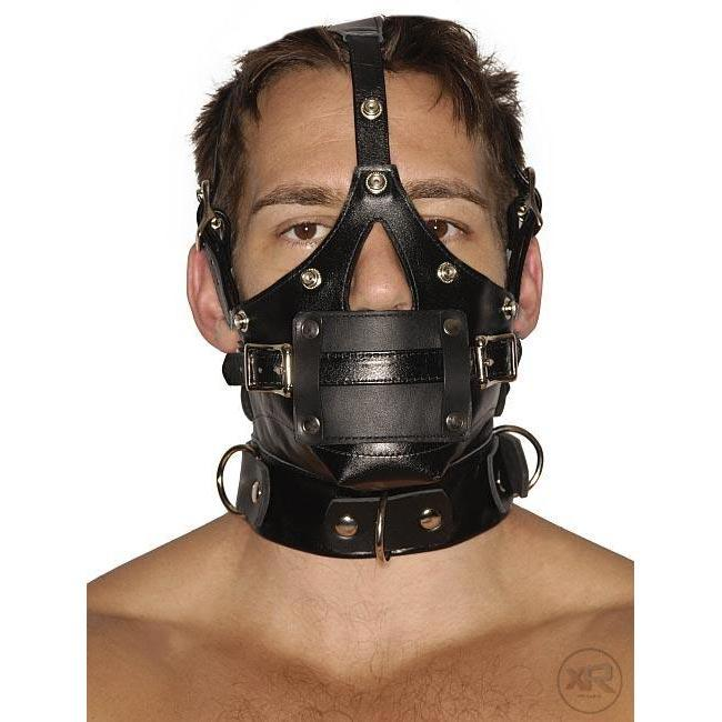 Strict Leather Premium Muzzle with Blindfold and Gag
