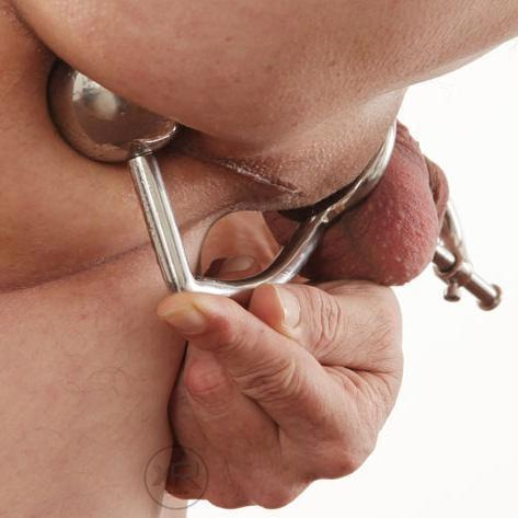 Anal Intruder Cock Ring with Urethral Plug