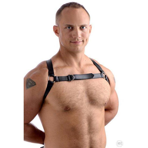 Easy Access Thigh and Wrist Cuffs with Bondage Chest Harness