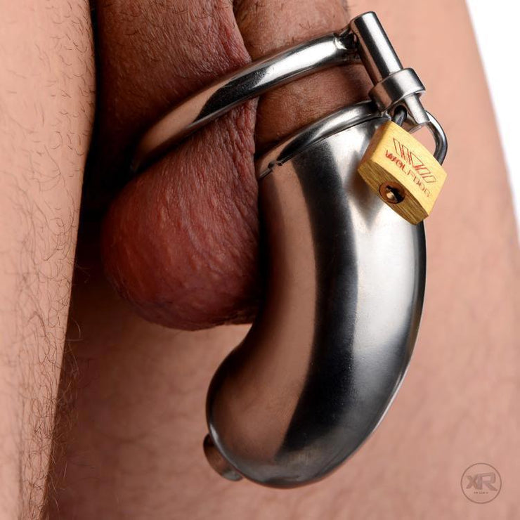 Armor Chastity Cage with Removable Urethral Insert