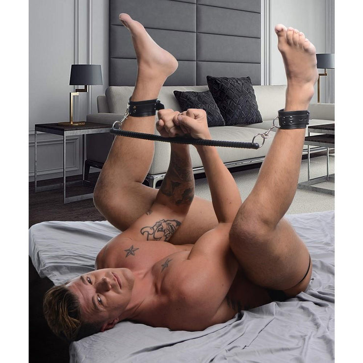 Leather Wrapped Spreader Bar with Cuffs