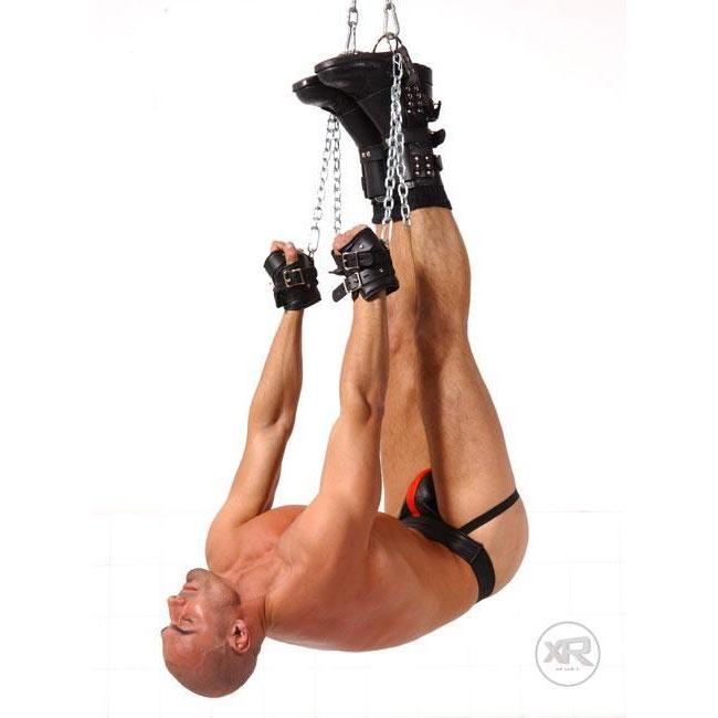 Strict Leather Boot Suspension Cuffs