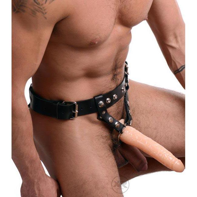 The Premium Leather Strap-On Harness