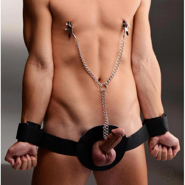 Detained Restraint with Nipple Clamps
