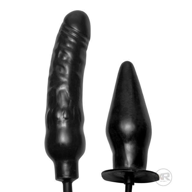 Deuce Double Penetration Inflatable Dildo and Anal Plug
