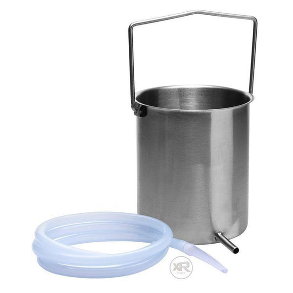 Premium Stainless Steel Enema Bucket Kit with Silicone Hose