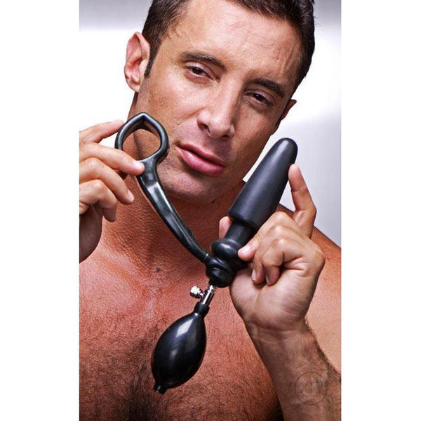 Exxpander Inflatable Plug with Cock Ring and Removable Pump