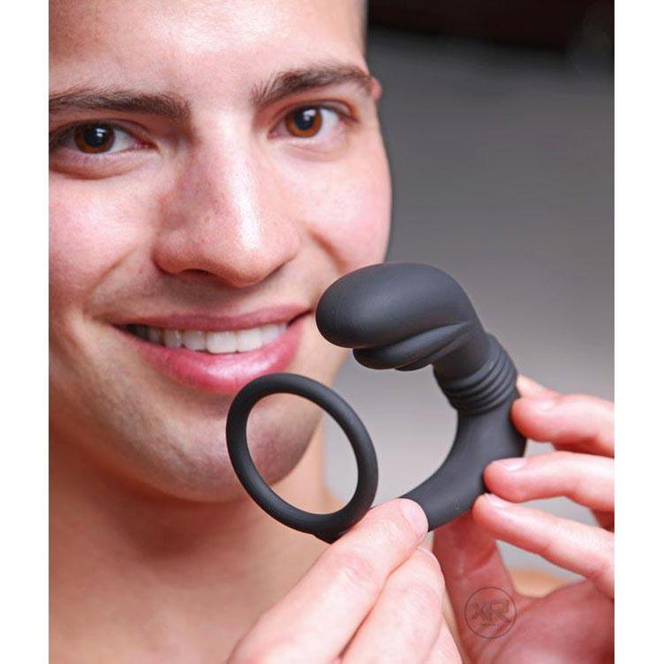 Cobra Silicone Prostate Massager and Cock Ring