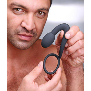 The Explorer Silicone Cock Ring and Prostate Plug