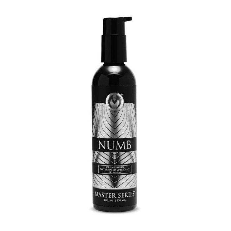 Numb Desensitizing Water Based Lubricant with 3.5-Percent Lidocaine - 8 oz