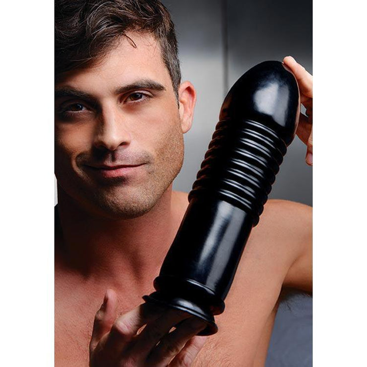 The Enormass - Ribbed Plug With Suction Base