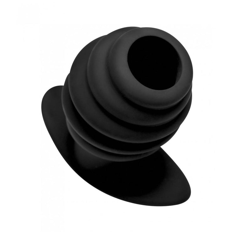 Hive Ass Tunnel Silicone Ribbed Hollow Anal Plug