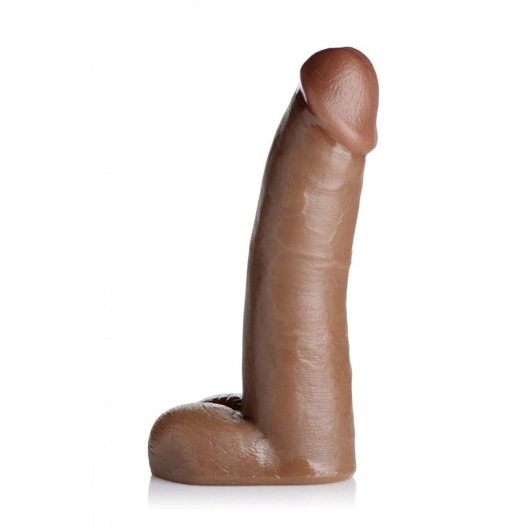 8 Inch Brown Cock Lock Dildo