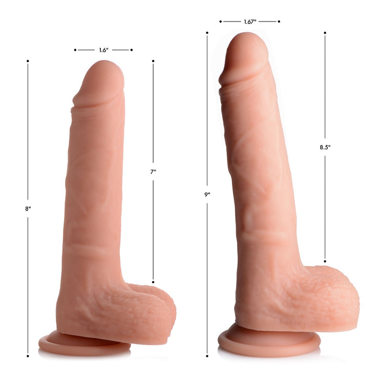 Vibrating and Rotating Remote Control Silicone Dildo with Balls