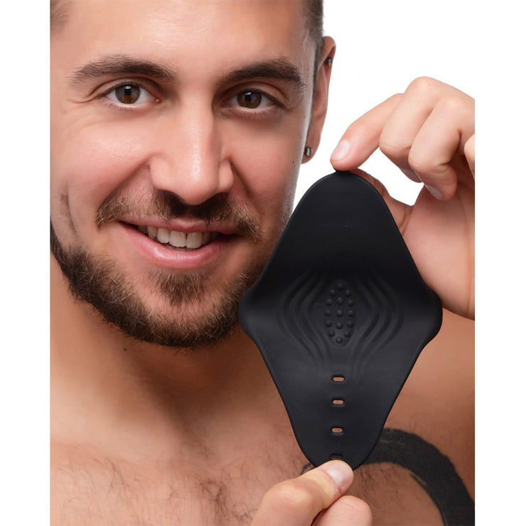 10X Pleasure Stroke Vibrating Silicone Penis Sleeve
