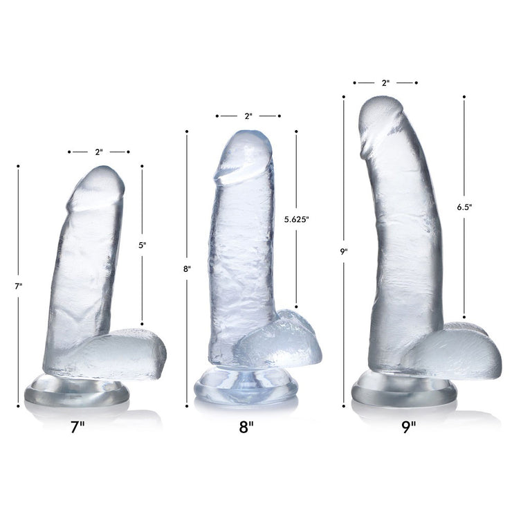 Clear C-Thru Dildo with Balls