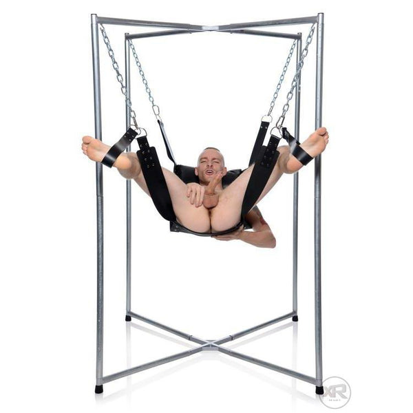 4-Point Sling Stand legs up for punishment