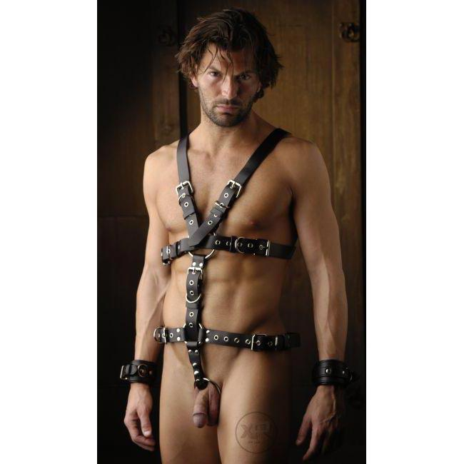 Strict Leather Harness with Removable Cock Ring - BoyzShop