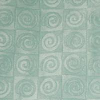 Fabric square -aqua blue swirl velour