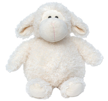 Large wooly sheep stuffed animal - curly creamy white fur