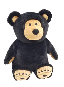 "Black & tan large 18"" therapeutic Warm Buddy teddy bear-sitting"