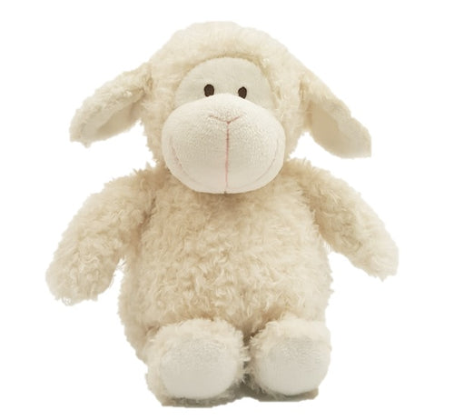 Little Buddy wooly sheep stuffed animal - curly creamy white fur