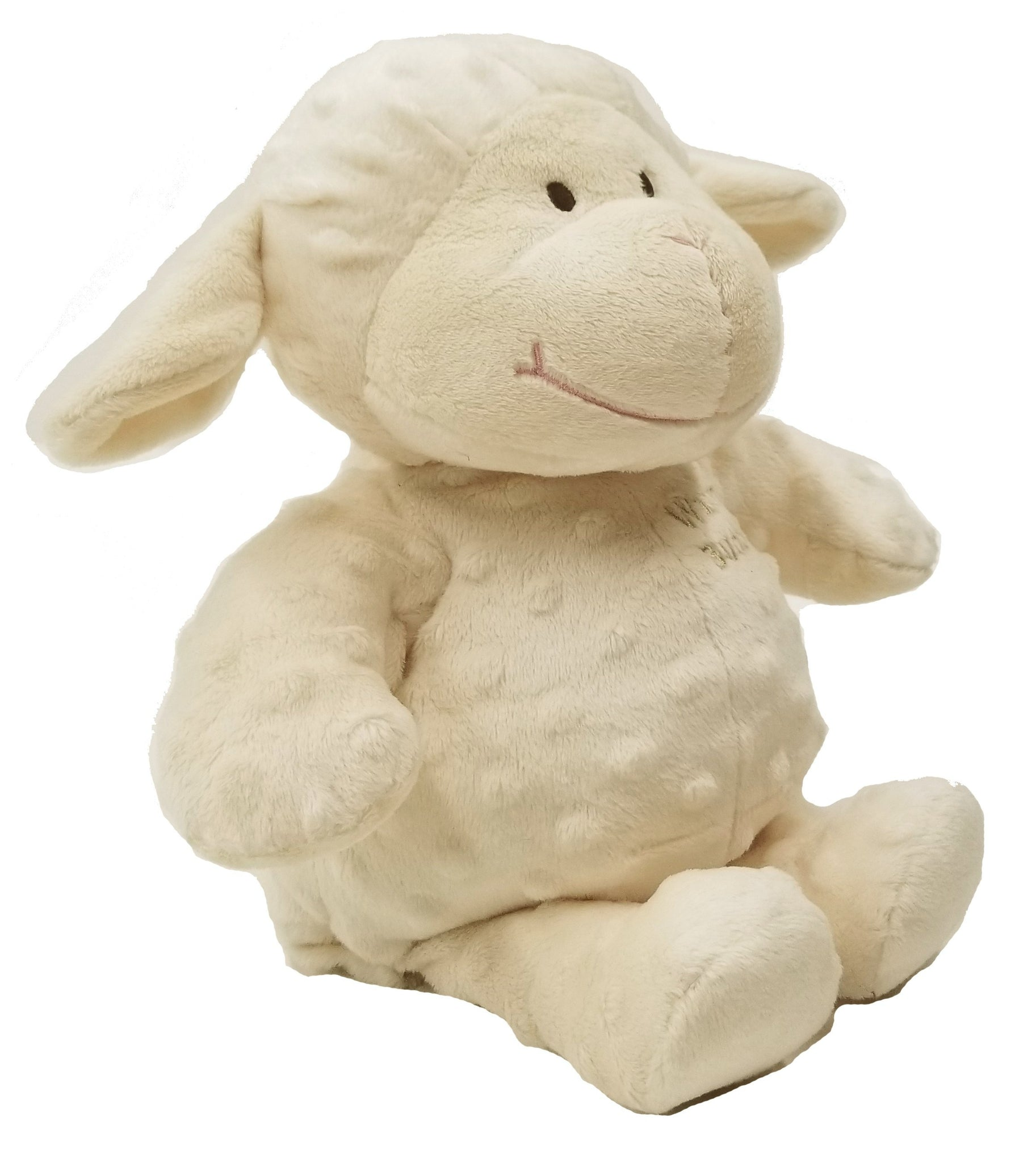Baby Lamb Warm Stuffed Puppet Cream Fur W Microwavable Inner Heat Pack