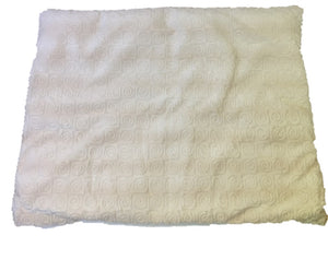 "Square microwavable warming weighted blanket 15""x19""-creamy white swirl - top view"