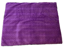 "Square microwavable weighted warming blanket 15""x19""-purple violet swirl - top view"