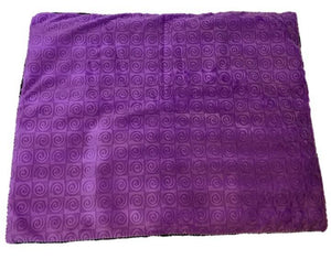 "Square microwavable warming blanket 15""x19""-purple violet swirl - top view"