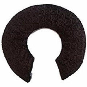 Top view -C-shaped shoulder wrap- chocolate brown swirl velour