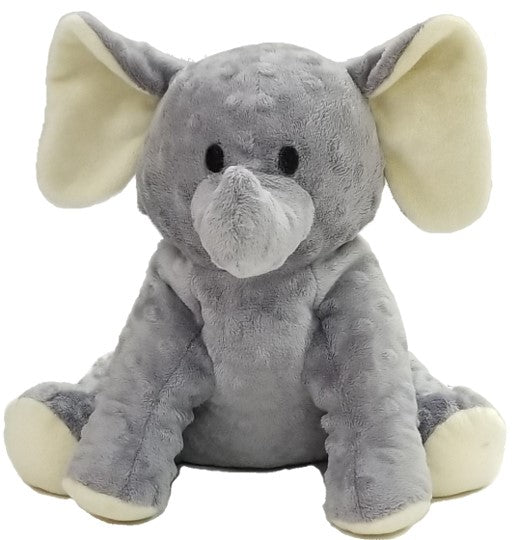 Baby Elephant Warm Stuffed Puppet Microwave Heated W Gray Cream Fur
