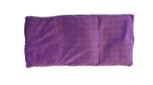 "Top view -rectangle body wrap 9""x19"" -purple violet swirl velour"